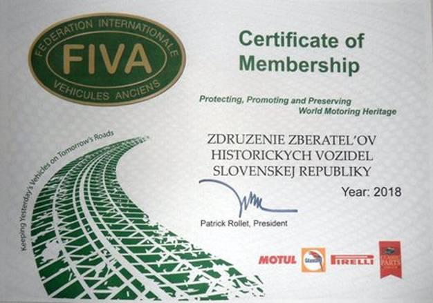 Členstvo ZZHV SR v F.I.V.A.